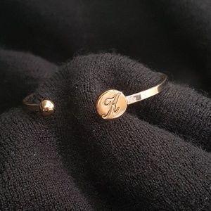 Jewelry - Initial cuff style bracelet